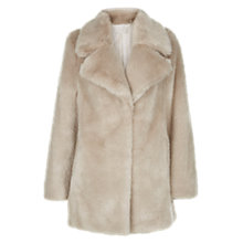 Buy Hobbs Bethany Faux Fur Coat, Natural Online at johnlewis.com
