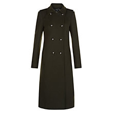 Buy Hobbs Marietta Military Coat, Dark Fern Green Online at johnlewis.com
