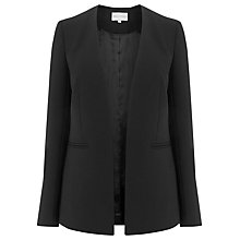 Buy Warehouse Clean Collarless Jacket, Black Online at johnlewis.com