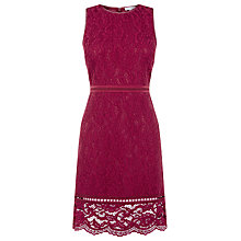 Buy Warehouse Bonded Lace Sleeveless Dress Online at johnlewis.com