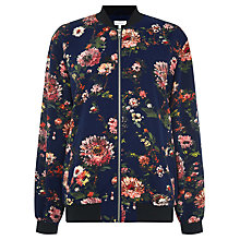Buy Warehouse Floral Bomber Jacket, Blue Pattern Online at johnlewis.com