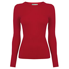 Buy Oasis Long-sleeved Rib Top, Mid Red Online at johnlewis.com