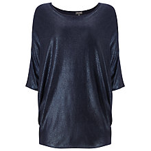 Buy Phase Eight Becca Foil Batwing Jumper, Ink Online at johnlewis.com