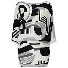 Buy Phase Eight Circles Block Print Jumper, Grey Online at johnlewis.com