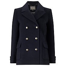 Buy Phase Eight Pippa Pea Coat, Navy Online at johnlewis.com