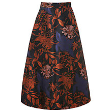 Buy Warehouse Floral Jacquard Prom Skirt, Multi Online at johnlewis.com