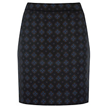 Buy Warehouse Tile Jacquard Skirt, Navy Online at johnlewis.com