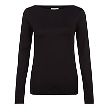 Buy Hobbs Herta Top, Black Online at johnlewis.com
