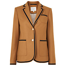 Buy L.K. Bennett Louise Flannel Blazer, Brown Online at johnlewis.com