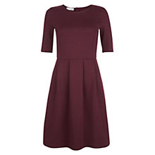 Buy Hobbs Ellie Jersey Dress, Dark Plum Online at johnlewis.com