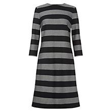 Buy Hobbs Gracie Dress, Grey Black Online at johnlewis.com