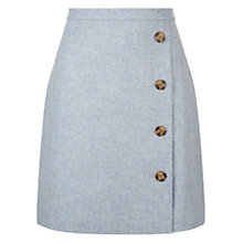 Buy Hobbs Dacia Wrap Skirt, Light Blue Online at johnlewis.com