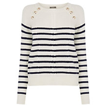 Buy Oasis Military Stripe Cable Knit, Multi/Blue Online at johnlewis.com