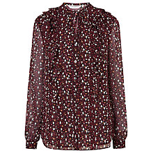 Buy L.K. Bennett Silk Jana French Forest Top, Multi Online at johnlewis.com