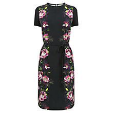 Buy Oasis Painted Shirt Dress, Black Online at johnlewis.com