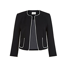 Buy Hobbs Cressida Jacket, Black Ivory Online at johnlewis.com