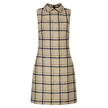 Buy Hobbs Tiffany Check Dress, Camel Online at johnlewis.com