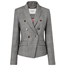 Buy L.K.Bennett Neha Neat Check Jacket, Grey Online at johnlewis.com