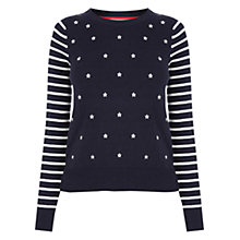 Buy Oasis Embroidered Star Knit, Multi/Blue Online at johnlewis.com