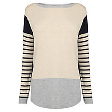 Buy Oasis Colour Block Bridgette Top, Multi Online at johnlewis.com
