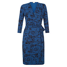 Buy Hobbs Joyce Floral Dress, Peacock Blue Online at johnlewis.com