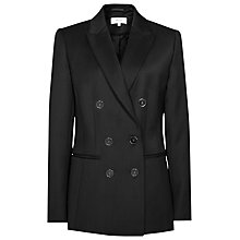 Buy Reiss Tahlia Double Breasted Blazer, Black Online at johnlewis.com