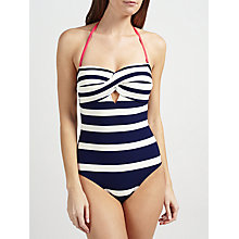 Buy Ted Baker Cirana Textured Stripe Swimsuit, Navy/White Online at johnlewis.com