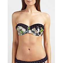 Buy Ted Baker Geela Gem Garden Bandeau Bikini Top, Black/Multi Online at johnlewis.com