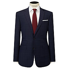 Buy John Lewis Wool Check Tailored Fit Suit Jacket, Navy Online at johnlewis.com