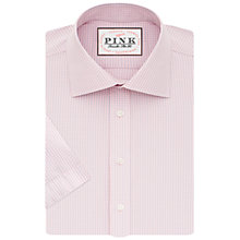 Buy Thomas Pink Patterson Check Classic Fit Short Sleeve Shirt, Pale Pink/Blue Online at johnlewis.com
