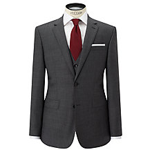 Buy John Lewis Sharkskin Super 100s Wool Regular Fit Suit Jacket, Mid Grey Online at johnlewis.com