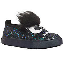 Buy Mini Miss KG Children's Roarsome Slip-On Trainers, Black Online at johnlewis.com