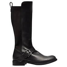 Buy Mini Miss KG Children's Half N Half Boots, Black Online at johnlewis.com