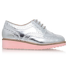 Buy Mini Miss KG Children's Mini Knox Lace Shoes, Silver Online at johnlewis.com