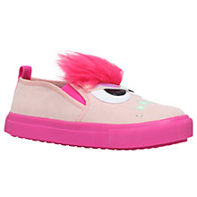 Buy Mini Miss KG Children's Roarsome Slip-On Trainers, Pink Online at johnlewis.com