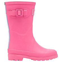 Buy Little Joule Children's Field Wellingtons Boots, Neon Pink Online at johnlewis.com