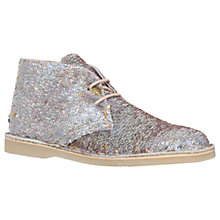 Buy Mini Miss KG Children's Intergalactic Boots, Sequin Silver Online at johnlewis.com