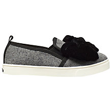 Buy Mini Miss KG Children's Twister Slip-On Shoes, Grey Online at johnlewis.com