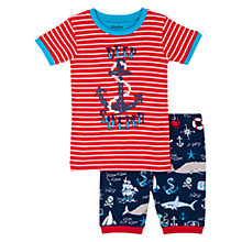 Buy Hatley Children's Nautical Print Shortie Pyjamas, Red/Navy Online at johnlewis.com