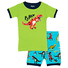 Buy Hatley Children's Roaring T-Rex Shortie Pyjamas, Green/Blue Online at johnlewis.com