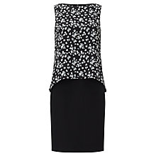 Buy Bruce by Bruce Oldfield Printed Double Layer Dress, Black Online at johnlewis.com