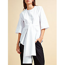 Buy Modern Rarity palmer//harding Tie Waist Shirt, White Online at johnlewis.com