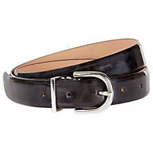 Buy Hobbs Hannah Belt, Black Cheetah Online at johnlewis.com