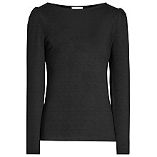 Buy Reiss Erol Jersey Top, Black Online at johnlewis.com