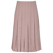 Buy Reiss Selina Pleated Midi Skirt, Dusty Rose Online at johnlewis.com