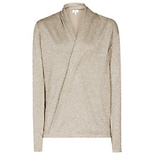 Buy Reiss Ilyssa Wrap Front Top, Bronze Online at johnlewis.com