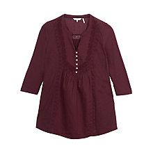 Buy Fat Face Milcombe Threequarter Top Online at johnlewis.com
