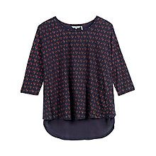 Buy Fat Face Faro Wheatsheaf Top, Navy Online at johnlewis.com