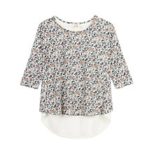 Buy Fat Face Faro Woodblock Floral Top, Ivory Online at johnlewis.com