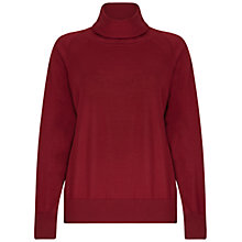 Buy Winser London Merino Wool Roll Neck, Rich Burgundy Online at johnlewis.com